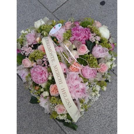 Corazón funerario formal