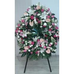 Corona funerario formal redonda