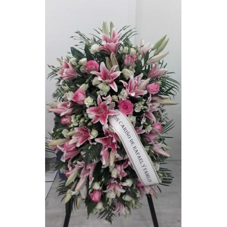 Centro mortorio rosa y fusia formal