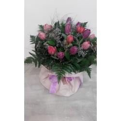 Ramo de tulipanes.15unid variados