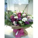 Ramo variado tonos rosas, malvas y blancos