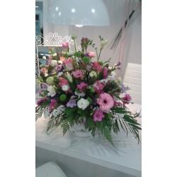Centro corativo de flores variadas