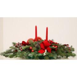 Centro navideño rojos y verdes